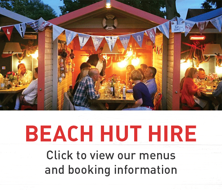 Ahoy there - party in one of our beach huts